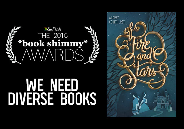 2016 Epic Reads Book Shimmy Award: We Need Diverse Books Winner - Of Fire and Stars by Audrey Coulthurst