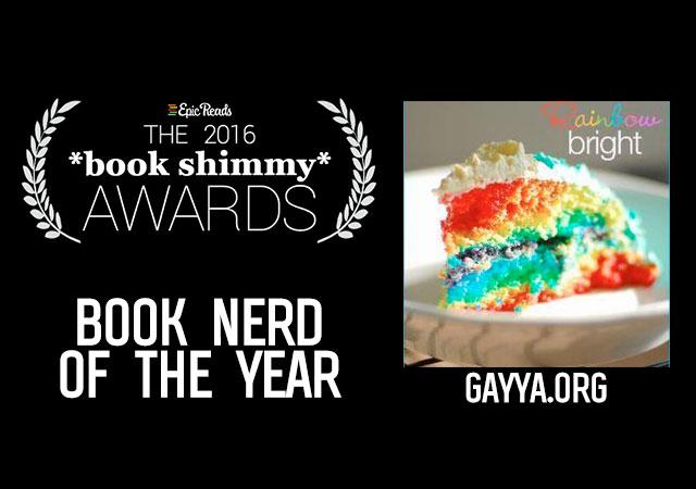 2016 Epic Reads Book Shimmy Award: Book Nerd of the Year Winner - GayYA.org