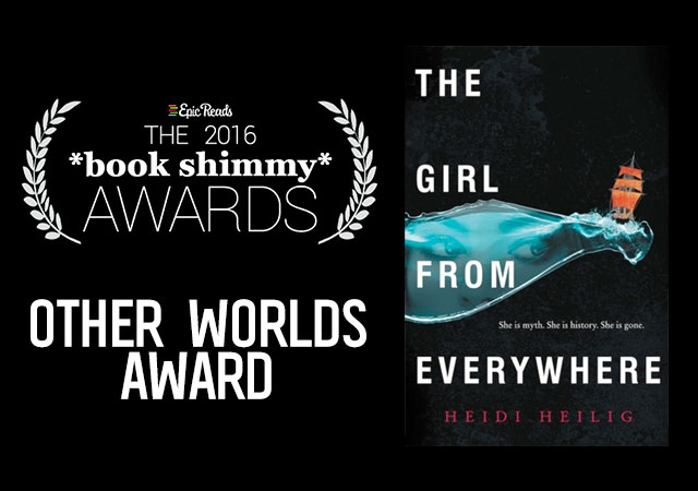 2016 Epic Reads Book Shimmy Award: Other Worlds Winner - The Girl from Everywhere by Heidi Heilig