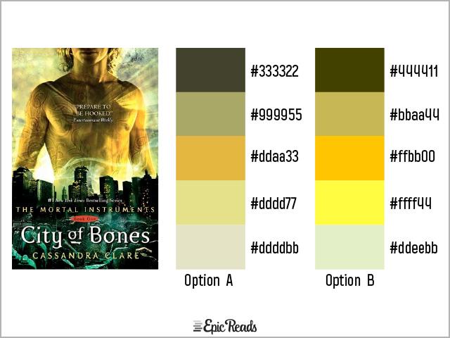 City of Bones color palette