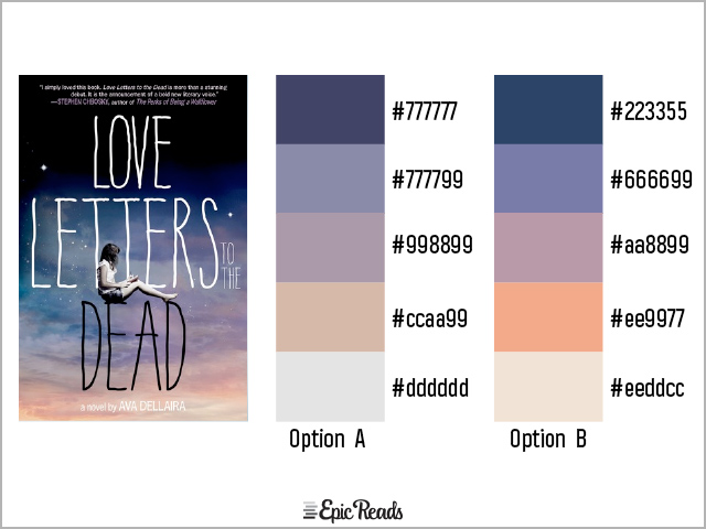 Love Letters to the Dead color palette