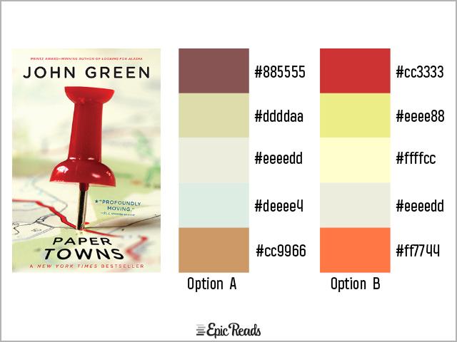Paper Towns color palette