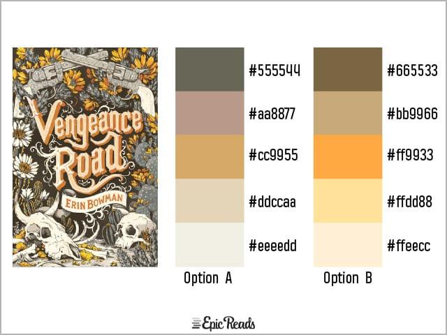 Vengeance Road color palette