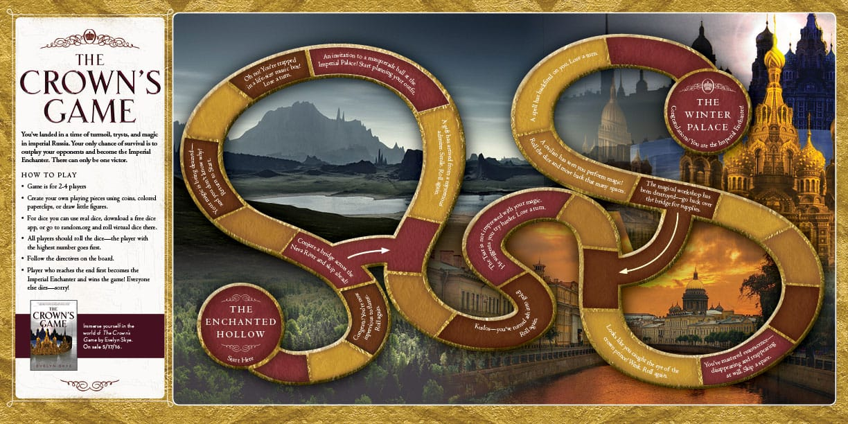 Download and print the board game inspired by THE CROWN'S GAME by Evelyn Skye from Epic Reads!
