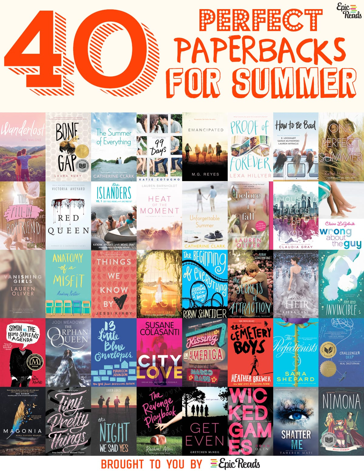 40 Perfect YA Paperbacks for Summer Reading - Recommended by Epic Reads