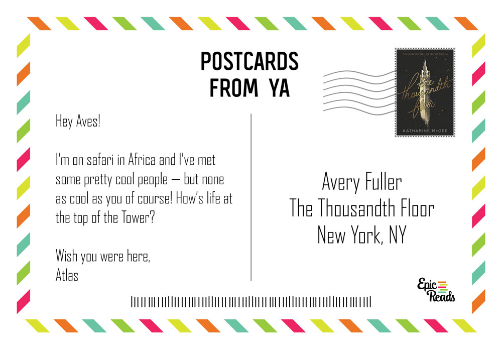 Ya Postcards Postcards From Your Favorite Ya Characters