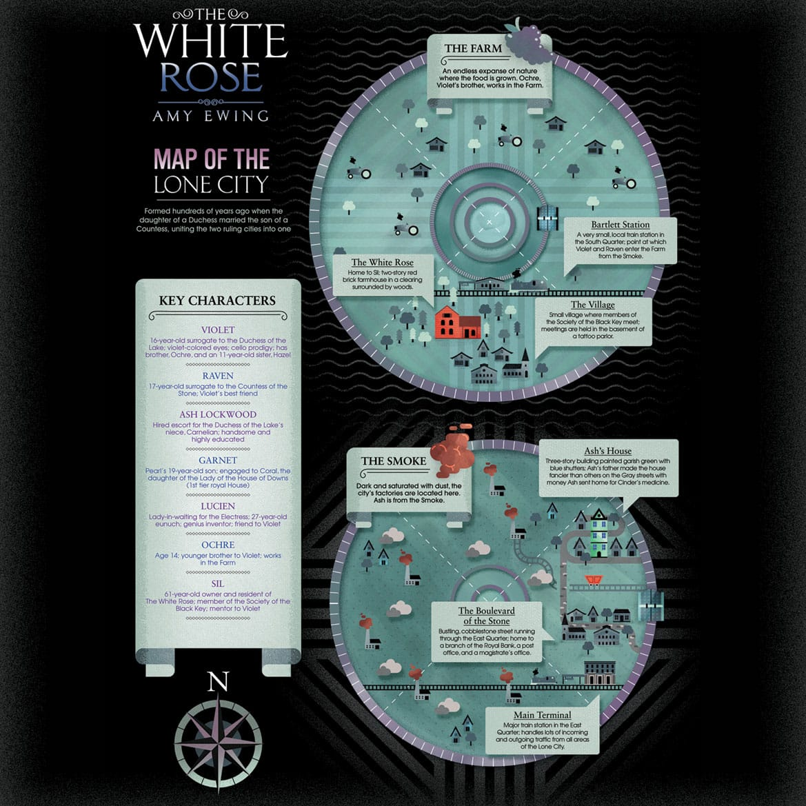 The White Rose map