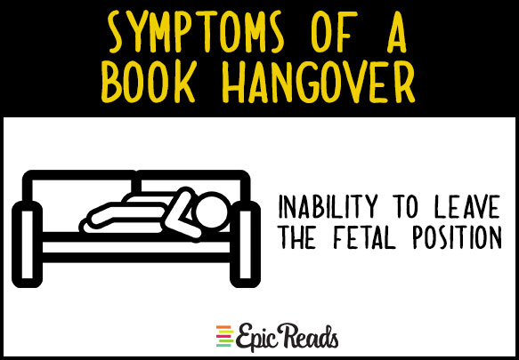 symptoms of a book hangover epic reads blog
