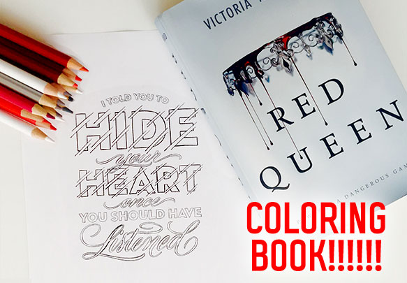A Red Queen Coloring Book Is Officially Happening