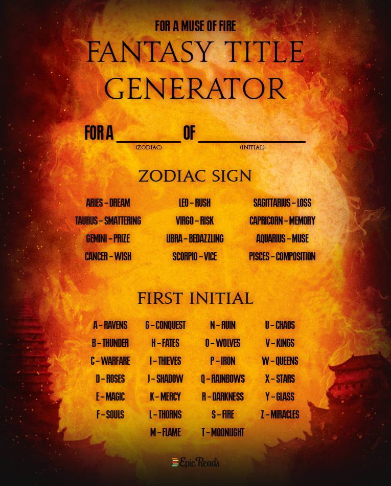 Write Your Own Bestseller With This 'Fire' Fantasy Title